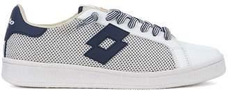 Lotto Leggenda Autograph Blue And White Leather And Mesh Sneaker