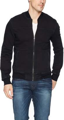 True Religion Men's Fleece Bomber Jacket