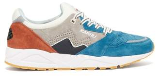 Karhu Aria Panelled Suede Trainers - Mens - Blue Multi