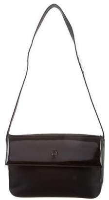 Gianni Versace Leather-Trimmed Shoulder Bag