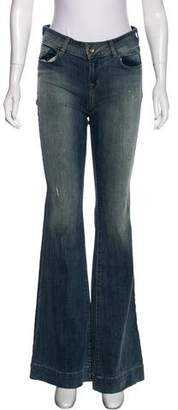 J Brand Love Story Mid-Rise Flared Jeans