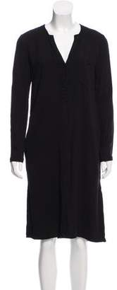 Anine Bing Long Sleeve Knee-Length Dress
