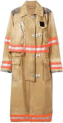 Calvin Klein oversized fireman coat