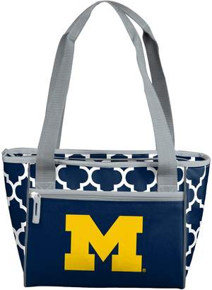 Logo Brand Michigan Wolverines Quatrefoil 16-Can Cooler Tote