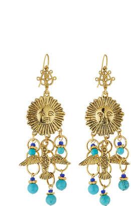 Jose & Maria Barrera Sun & Dove Charm Chandelier Earrings
