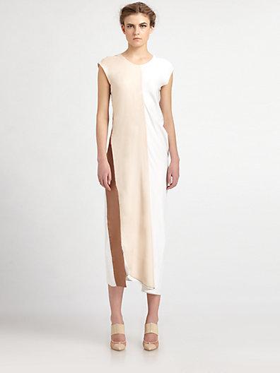 Reed Krakoff Diagonal Stripe Dress