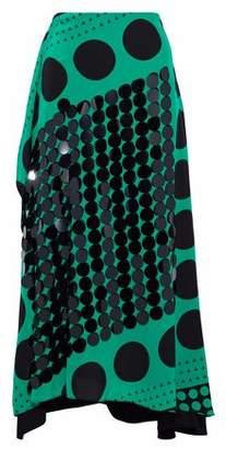 Diane von Furstenberg Appliquéd Printed Silk Midi Skirt