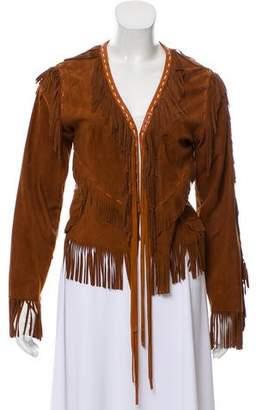 Dolce & Gabbana Goatskin Fringe Jacket