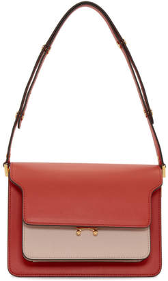 Marni Red and Pink Medium Trunk Bag