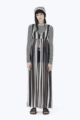 Marc Jacobs Striped Empire-Waist Chiffon Dress