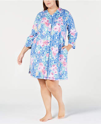 Miss Elaine Printed Long Zip Robe (Regular size)