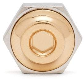 Dunhill Hex Nut And Bolt 18kt Gold Lapel Pin - Mens - Silver