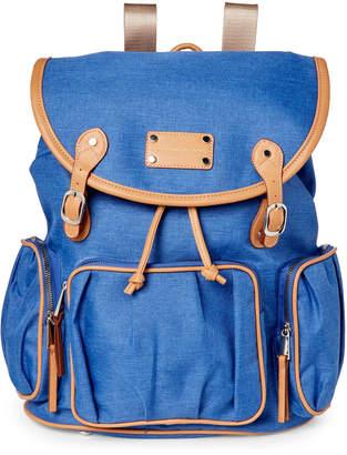 Adrienne Vittadini Nylon Laptop Flap Backpack