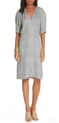 Lewit V-Neck Check Print Dress