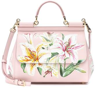 Dolce & Gabbana Sicily floral leather shoulder bag