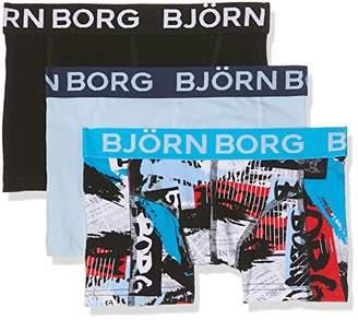 Bjorn Borg Boy's Shorts BB NY Times 3p Boxer (Brilliant White), (Size: 122-128)