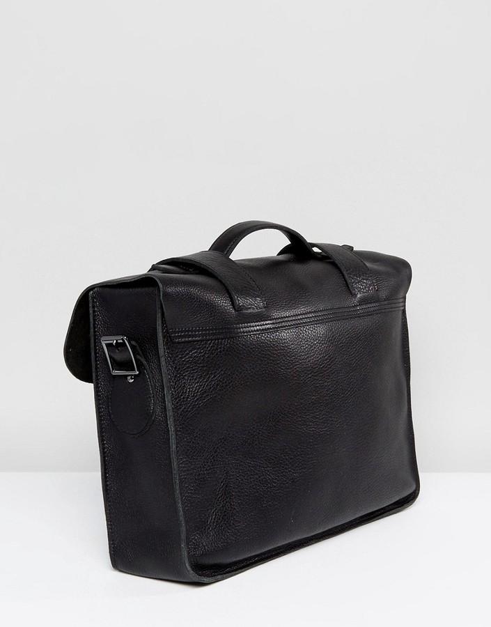 dr martens 15 satchel aus schwarzem leder shopstyle. Black Bedroom Furniture Sets. Home Design Ideas