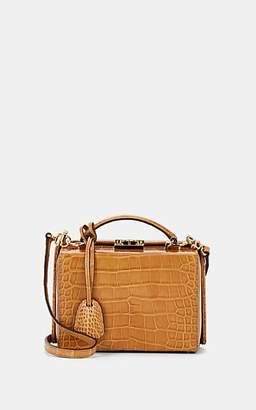 Mark Cross Women's Grace Small Crocodile-Stamped Leather Box - Luggage