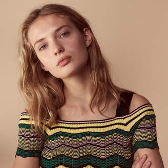 Sandro Knitted top with bare shoulders