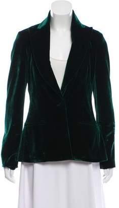 Cushnie et Ochs Structured Velvet Blazer