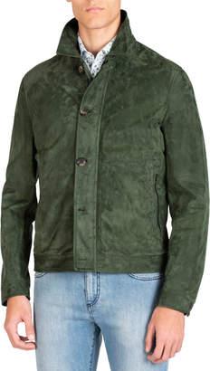 Men's Lamb Suede Bomber Jacket