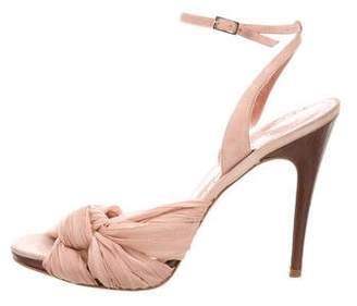 Alexandra Neel Pleated Chiffon Sandals