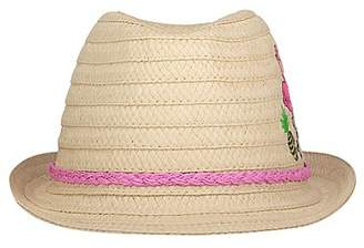 George Flamingo Embroidered Trilby Hat