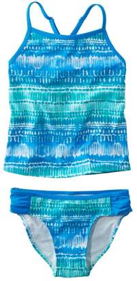 L.L. Bean L.L.Bean Girls' Wave Jumper Swimsuit, Two-Piece Print
