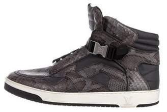 Louis Vuitton Python High-Top Sneakers