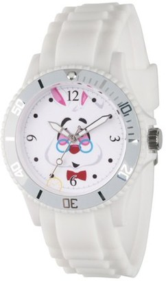 Disney Alice in Wonder Land White Rabbit Women's White Plastic Watch, White Bezel, White Plastic Strap