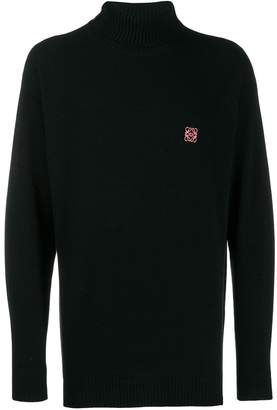 Loewe embroidered logo roll-neck jumper