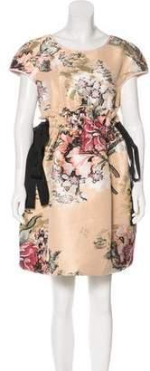 Fendi 2017 Floral Fil Coupé Dress