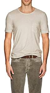 Massimo Alba MEN'S WATERCOLOR-EFFECT COTTON SHORT-SLEEVE T-SHIRT
