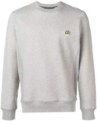 Love Moschino peace plaque sweatshirt