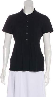 Burberry Smocked Polo Top