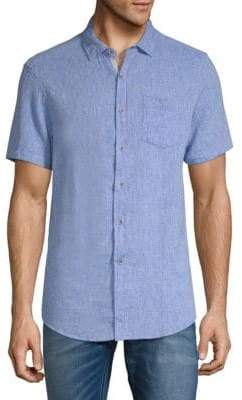 Report Collection Dobby Textured Short-Sleeve Button-Down Shirt