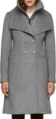 Soia & Kyo Double Collar Slim Fit Wool Coat