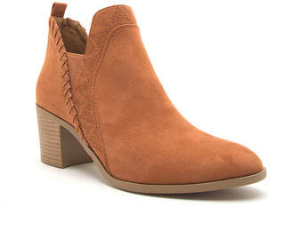 Qupid Womens Topanga 40 Stacked Heel Pull-on Booties