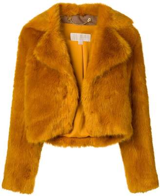 MICHAEL Michael Kors cropped faux-fur jacket