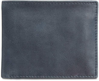 Tasso Elba Men's Abott Traveler Leather Bifold Wallet