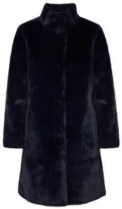 Navy Faux Fur Coat Shopstyle Uk