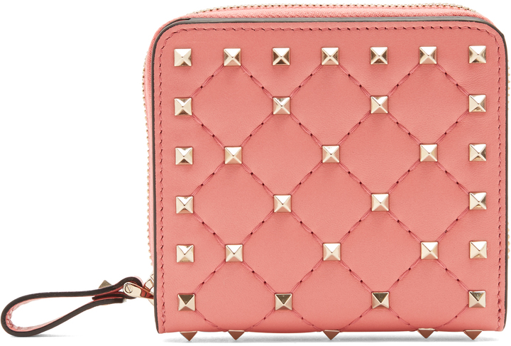 ValentinoVALENTINO Rockstud Spike quilted-leather wallet
