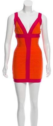 Herve Leger Billie Bandage Dress Orange Billie Bandage Dress