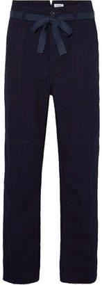 Chimala Wide-Leg Indigo-Dyed Selvedge Cotton-Canvas Trousers
