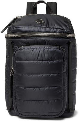 Moncler New Yannick Leather-Trimmed Quilted Shell Backpack