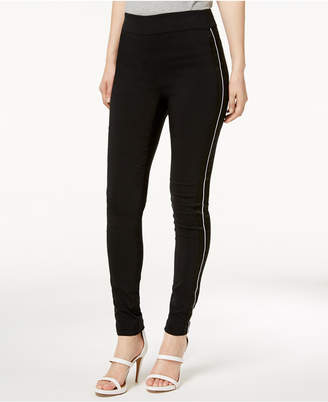 INC International Concepts I.n.c. Petite Satin-Stripe Skinny Pants, Created for Macy's