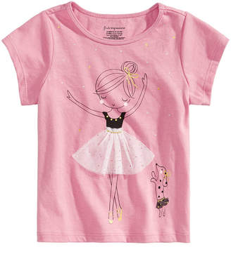 First Impressions Baby Girls Ballerina-Print Cotton T-Shirt