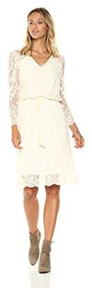 Ella Moon Women's Silvia Embroidered Blouson Sleeve Empire Waist Dress