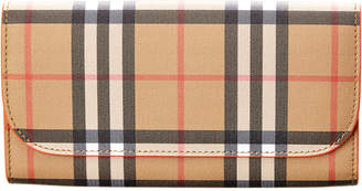 Burberry Vintage Check Canvas & Leather Continental Wallet