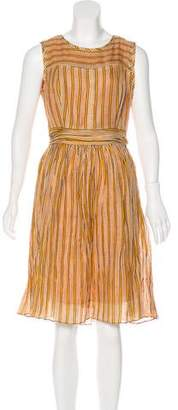 Tory Burch Sleeveless Striped Dress